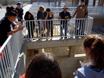 Students at water treatment plant