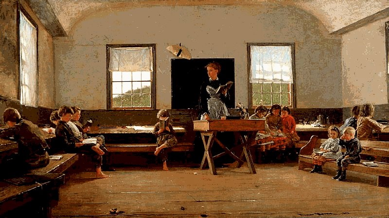 Winslow Homer - Painting of old school